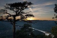 Kanzel - Sonnenuntertgang über der Wachau
